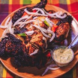 Cuisse de poulet braisé